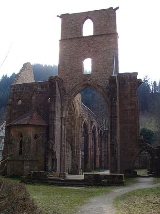 Oppenau - Ruins of All Saints' Abbey