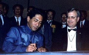 Alpha Phi Omega - Signing of the ICAPO charter at the 1994 National Convention in Dallas/Fort Worth, Texas.