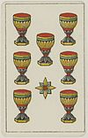 Aluette card deck - Grimaud - 1858-1890 - Seven of Cups.jpg