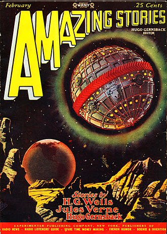 Hugo Gernsback - Gernsback's second novel, Baron Münchausen's Scientific Adventures, was serialized in Amazing in 1928, with the opening installment taking the February cover.
