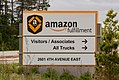 Amazon Fulfillment and Trucks Sign - Shipping Center in Shakopee, Minnesota (26207696107).jpg
