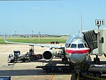 American Airlines Boeing 757 at Terminal A gate.jpg