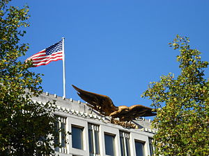 Theodore Roszak (artist) - Eagle on the US Embassy in London, sculpted by Roszak