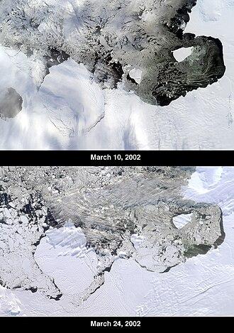 Thwaites Glacier - The B-22 iceberg broken off from the Thwaites Glacier Tongue