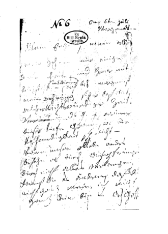"Immortal Beloved - Facsimile of the first page of the letter addressed to ""Immortal Beloved""."