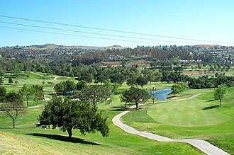 Anaheim Hills - A view of Anaheim Hills from the Anaheim Hills Golf Club