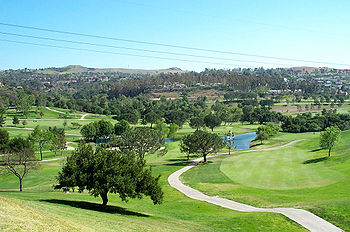 A view of Anaheim Hills from the Anaheim Hills Golf Club