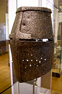 Ancient German armour helmet