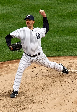 Andy Pettitte - Pettitte pitching in 2010