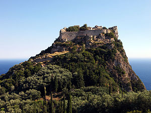 Michael I Komnenos Doukas - The castle of Angelokastro in Corfu, whose construction is sometimes attributed to Michael