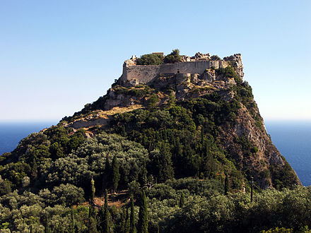 The Byzantine castle of Angelokastro successfully repulsed the Ottomans during the First Great Siege of Corfu in 1537, the siege of 1571, and the Second Great Siege of Corfu in 1716, causing them to abandon their plans to conquer Corfu. Angelokastro (Corfu).jpg