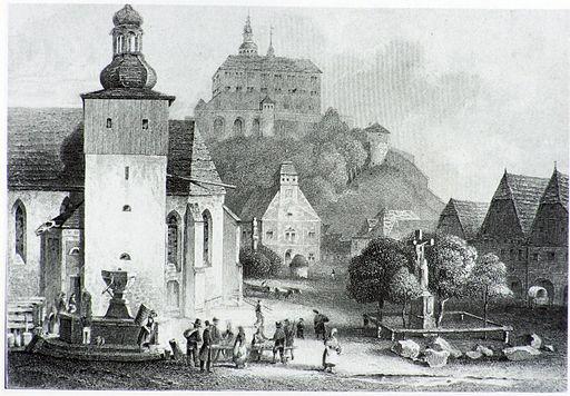 Ansicht Nachod um 1850
