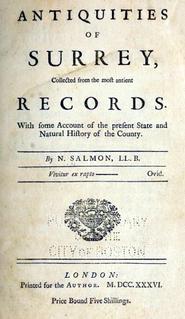 Nathanael Salmon English antiquary