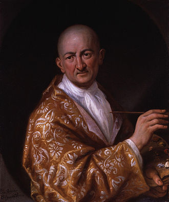 Antonio Verrio - Self-portrait of Antonio Verrio circa 1705/6