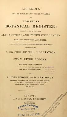 Appendix to the first twenty-three volumes of Edwards's Botanical Register.djvu