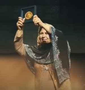 Nansen Refugee Award - Prof. Aqeela Asifi in 2015