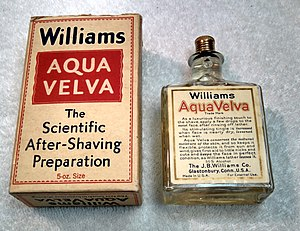 Aqua Velva - Original Aqua Velva Bottle from the 1930s.