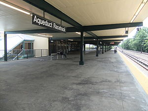 Aqueduct Racetrack (IND Rockaway Line) - The single platform at Aqueduct Racetrack