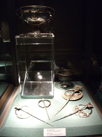 Ardagh Hoard - The Ardagh Hoard on display in the National Museum of Ireland in Dublin, 2010