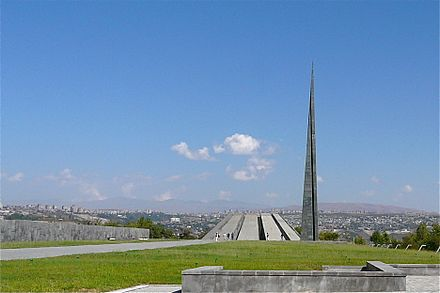 The Armenian Genocide Memorial on the hill of Tsitsernakaberd (Yerevan) Armenian Genocide Memorial - Yerevan (2903020364).jpg