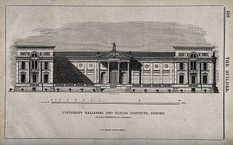 Ashmolean Museum - Wood-engraving of the Ashmolean c. 1845