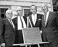 At the dedication of the Stephen Tyng Mather Home, a Registered National Historic Landmark. (Left to right)- Newton B. Drury (b047e46e53414747beb6829778ff0146).jpg