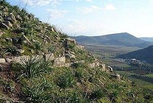 Atarneus - A view of the plain near Dikili from the site of Atarneus