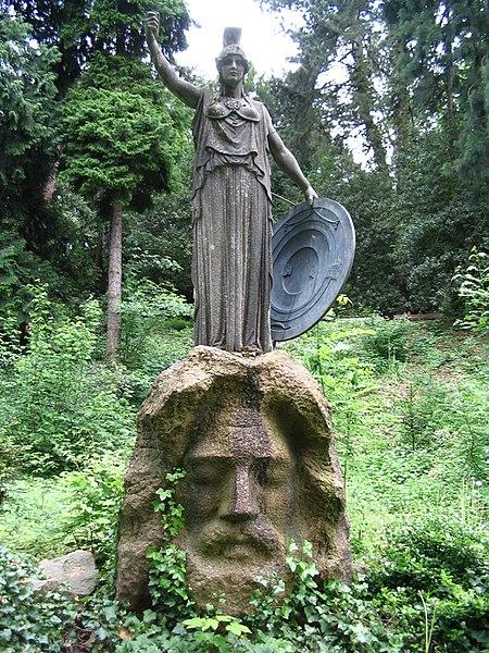 File:Athenebrunnen-Stuttgart Athene+Zeus.jpg
