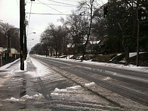 Mid-February 2014 North American winter storm - Atlanta during the winter storm