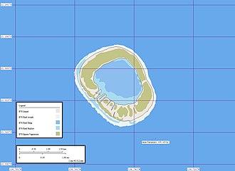 Tenararo - Map of Tenararo Atoll