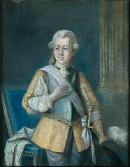 Gustav III, King of Sweden, in a Gustavus Adolphus inspired dress
