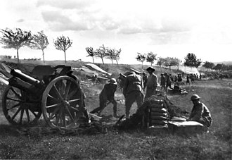 3rd Division (Australia) - The 108th Howitzer Battery in action around Bray, August 1918