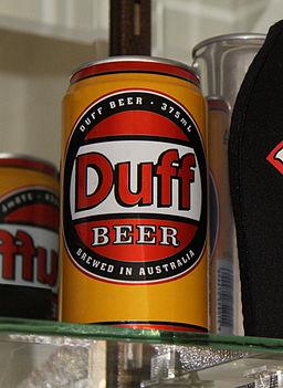 Australian Duff beer can