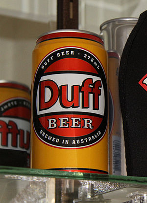 Duff Beer - Can of the Lion Nathan-produced Duff beer