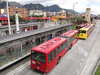 Héroes (TransMilenio) - Héroes station, exterior view