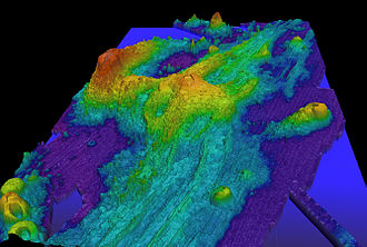 Axial Seamount - Image: Axial Exaggerated Bathymetry