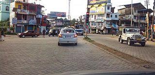 Ayoor Town in Kerala, Punalur India