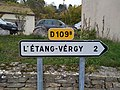 Bévy - Panneau direction L'Étang-Vergy (nov 2018).jpg