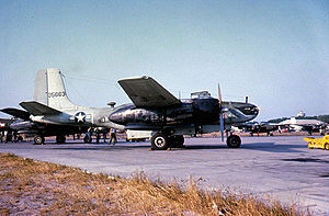 Bien Hoa Air Base - USAF Douglas A-26C/B-26B-45-DT Invader Serial 44-35663 on the flightine of Bien Hoa Air Base, 1963.   After service in Vietnam, this aircraft was eventually sold to the Nationalist Chinese, then scrapped at Clark Air Base in late 1964.