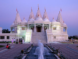 Indo-Canadians - The BAPS Shri Swaminarayan Mandir Toronto is located in Etobicoke, and it was built by Toronto's Gujarati Hindu community.