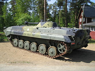 BMP-1 variants - A BMP-1K of the Finnish Army at the Parola tank museum, Finland, 1 June 2008.