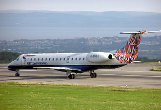 British Airways ethnic liveries - BA ethnic tail Market Day on an Embraer ERJ 145