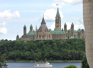 View of Centre Block and Library of Parliament...