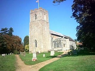 Badingham village in the United Kingdom