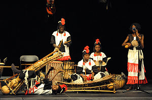 Balafon - Children from Burkina Faso performing in Warsaw, Poland during the 5th Cross Culture Festival, September 2009