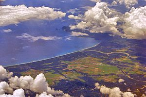 Baler Bay - Aerial view of the bay