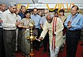 Bandaru Dattatreya lighting the lamp to inaugurate the Exhibition cum Awareness Meeting on the initiatives of the Ministry of Labour and Employment, in New Delhi. The Secretary, Ministry of Labour and Employment.jpg
