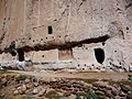 Bandelier National Monument in September 2011 - Cliff Dwellings - pictograph painting.JPG