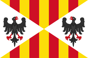Flag of the Kingdom of Sicily (1243 to 1410) I...