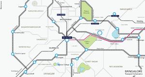 Kadugodi - A Railway map of Kadugodi.